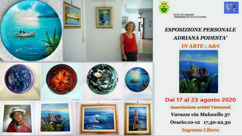 Varazze Gallery Malocello mostra personale Adriana Podestà