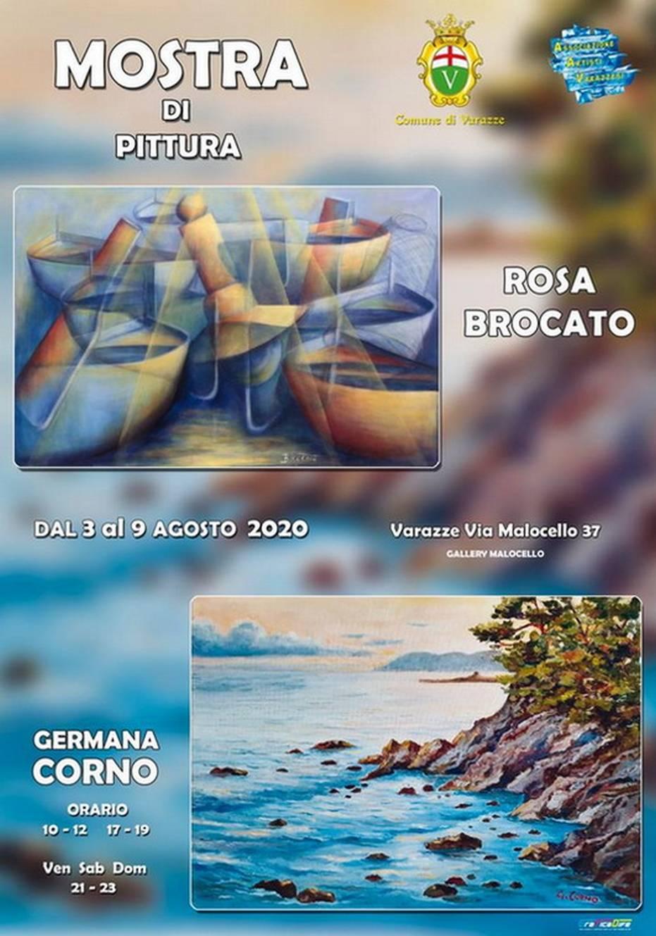 Varazze Gallery Malocello mostra Rosa Brocato e Germana Corno