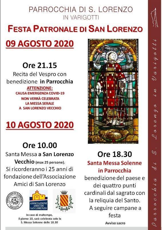 Varigotti festeggiamenti san Lorenzo 2020