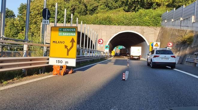 viabilità temporanea A7 A12 per chiusura Monte Galletto