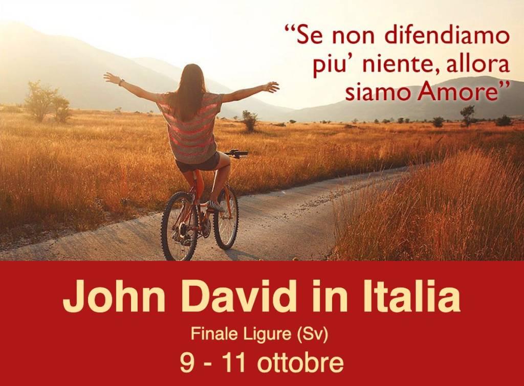 Finale Ligure incontro John David maestro spirituale