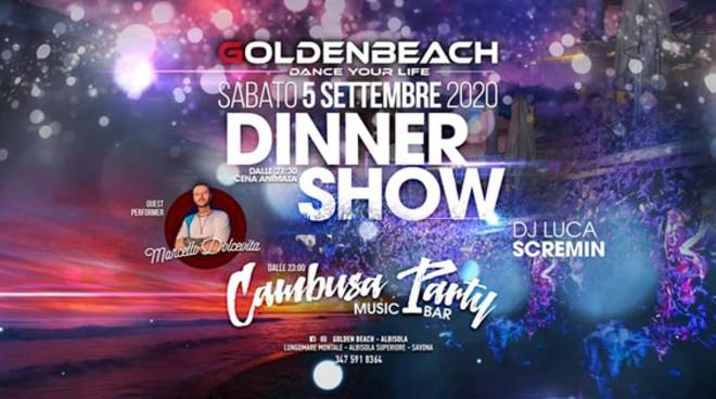Albisola Superiore Golden Beach Cambusa Party settembre 2020