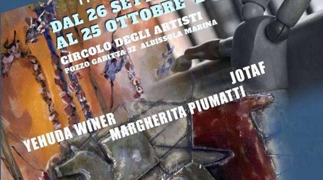 """Albissola Marina """"Convergenze"""" mostra tripersonale Circolo degli Artisti"""