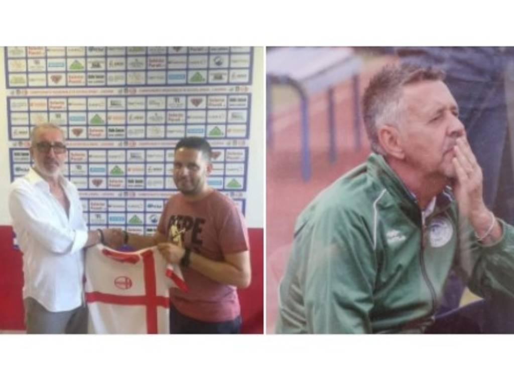 Bonadio (Genova Calcio) e Pino Ottonello (Academy Savona Legino)