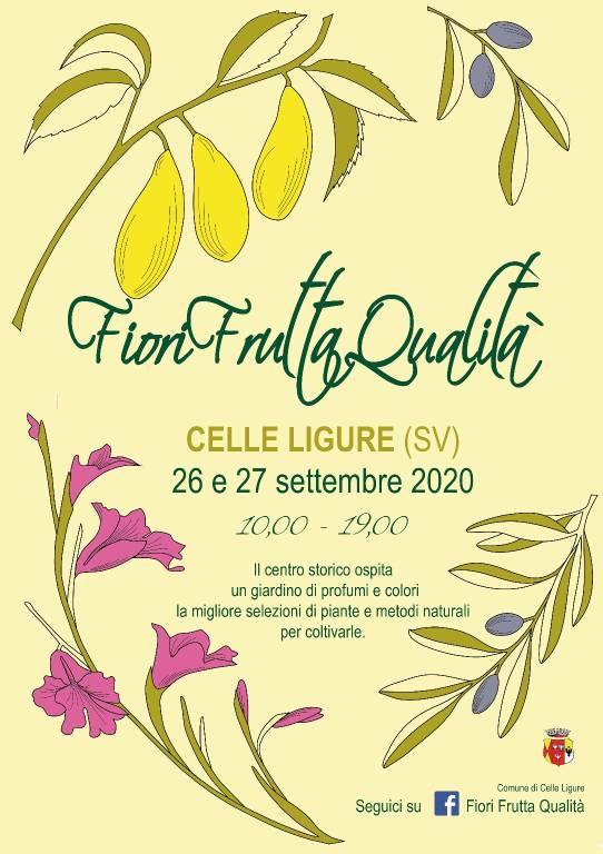 """Celle Ligure mercato ortoflorovivaistico """"Fiori, frutta, qualità"""" 2020"""