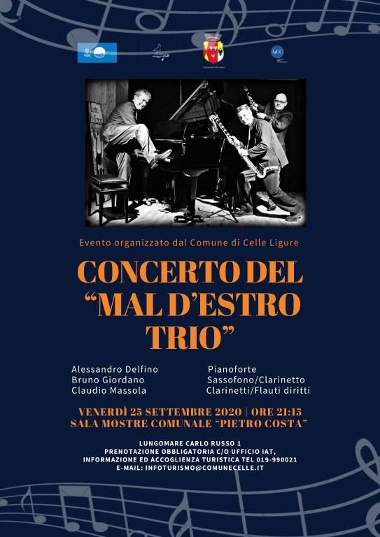 """Celle Ligure """"Sur le Fil"""" concerto trio Mal d'Estro settembre 2020"""