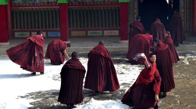 "Cinzia Bassani fotografia ""Festa al monastero di Labrang"" Tibet"