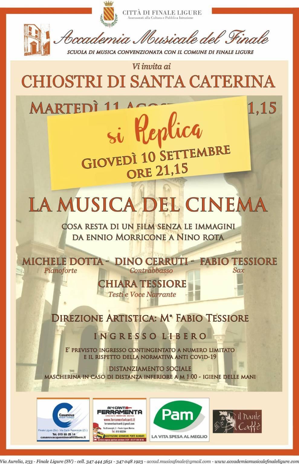 """Finale Ligure concerto """"La Musica del Cinema"""" settembre 2020"""