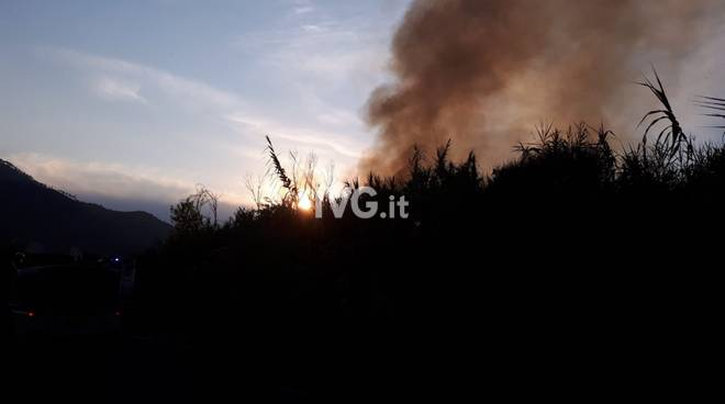 Incendio Albenga Centa