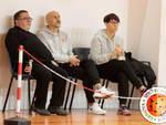 Gianfranco Molisani assieme a coach Domenici e alla Team Manager Elena Rossi