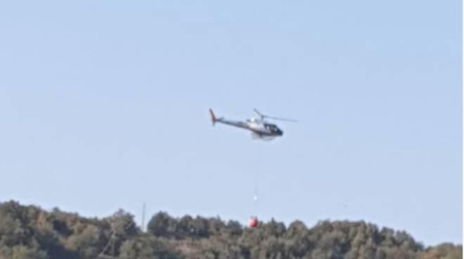 Incendio Cairo elicottero