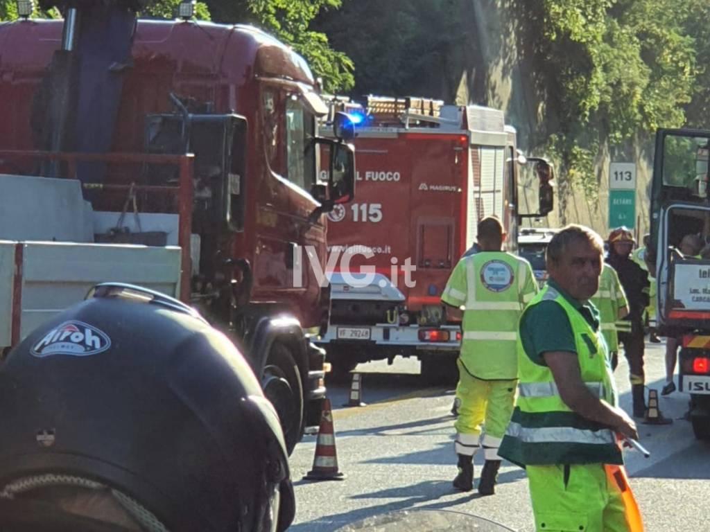 incidente Vvff vigili del fuoco autostrada