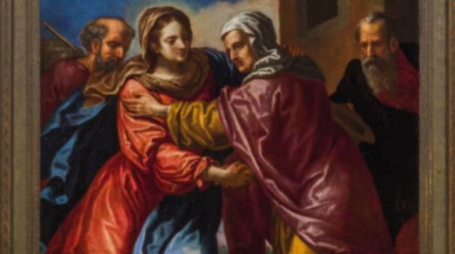 """""""Incontro fra Maria e sant'Anna"""" olio su tela Gio Stefano Robatto"""