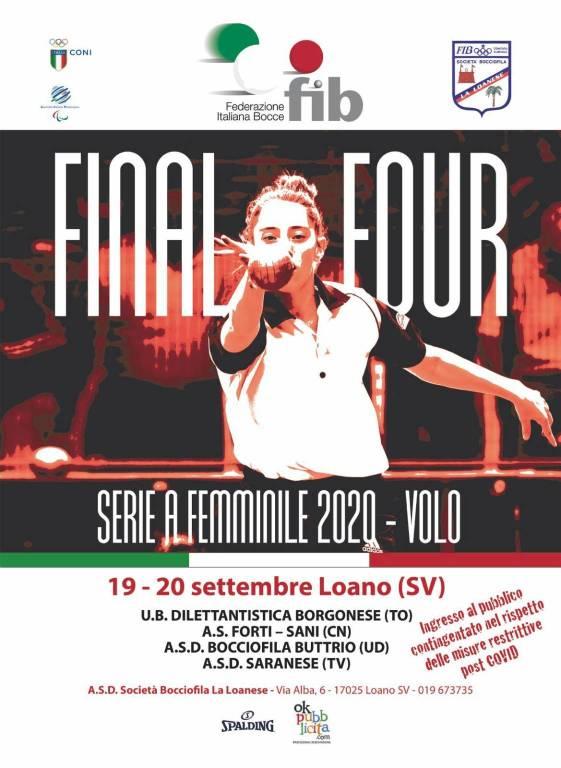 Loano bocce final four 2020 Serie A Femminile Volo