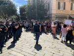 Salvini contestato a Savona