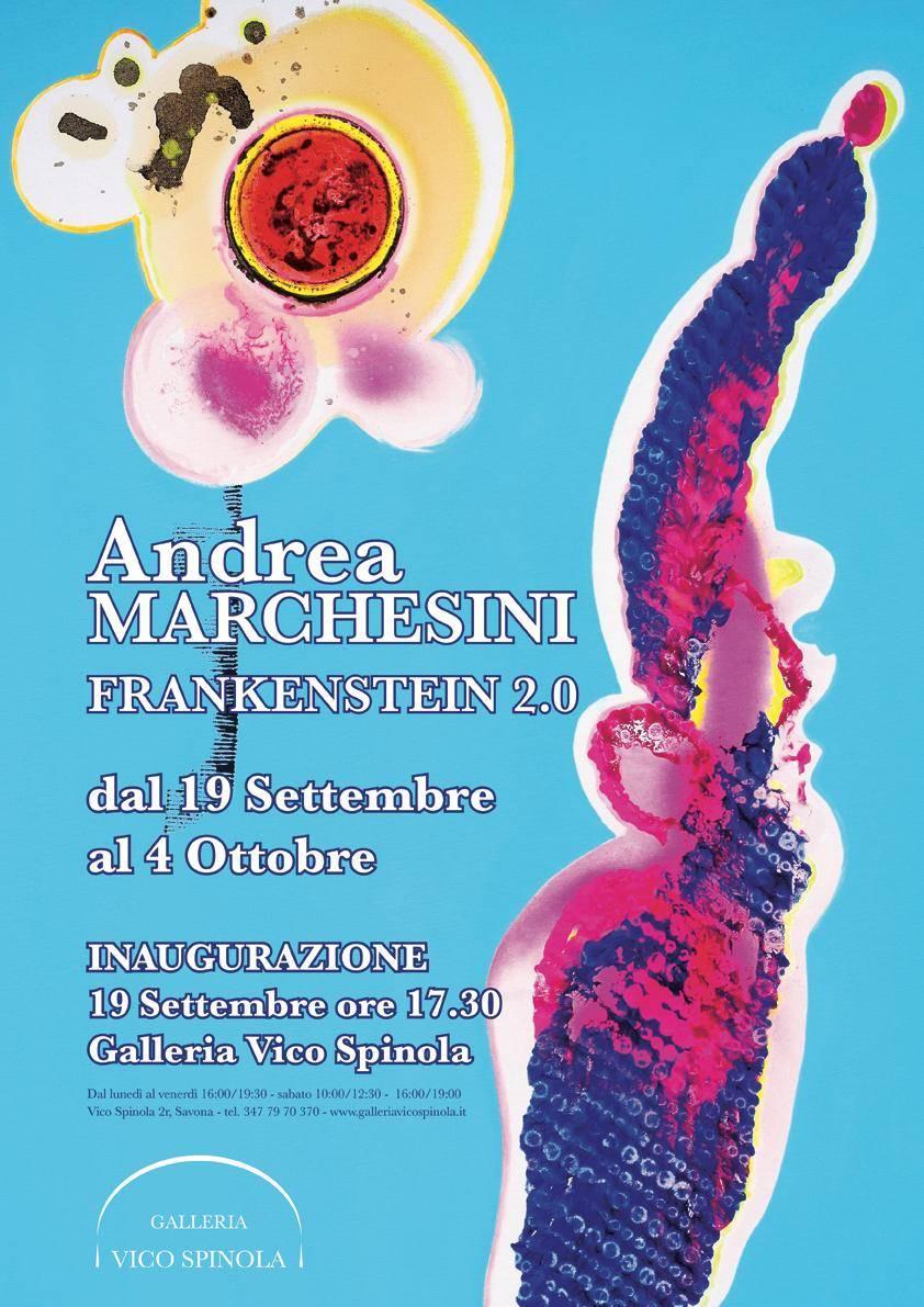 """Savona """"Frankenstein 2.0"""" mostra d'arte Andrea Marchesini Galleria Vico Spinola"""