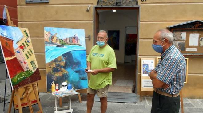 Varazze mostra pittura Enrico e Francesco Masala