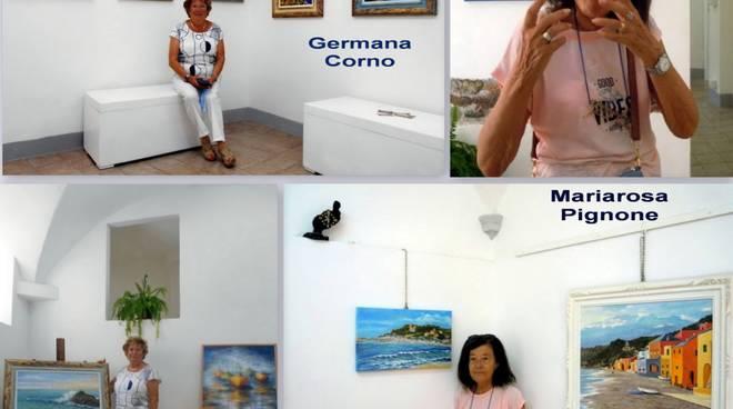 Varazze mostra pittura Mariarosa Pignone e Germana Corno Gallery Malocello