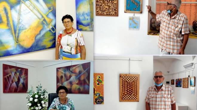 Varazze mostra Rosa Brocato pittrice e Ennio Bianchi pittore, intagliatore e scultore