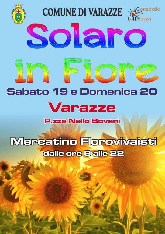 "Varazze ""Solaro in Fiore"" 2020 mercatino florovivaistico"