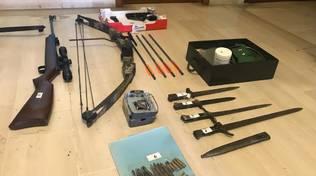 Villanova, le armi in possesso di Alberto Grosso