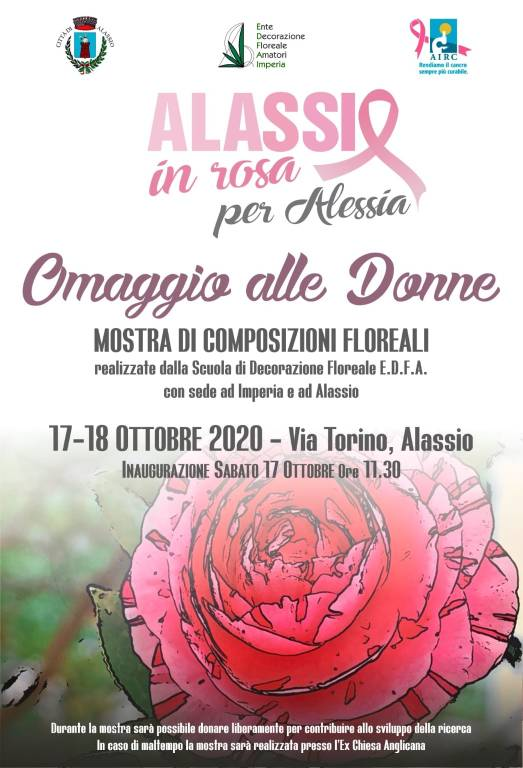 """Alassio """"Omaggio alle Donne"""" ottobre 2020 mostra fiori"""