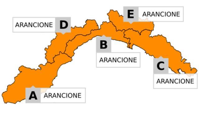 allerta arancione 1 ottobre