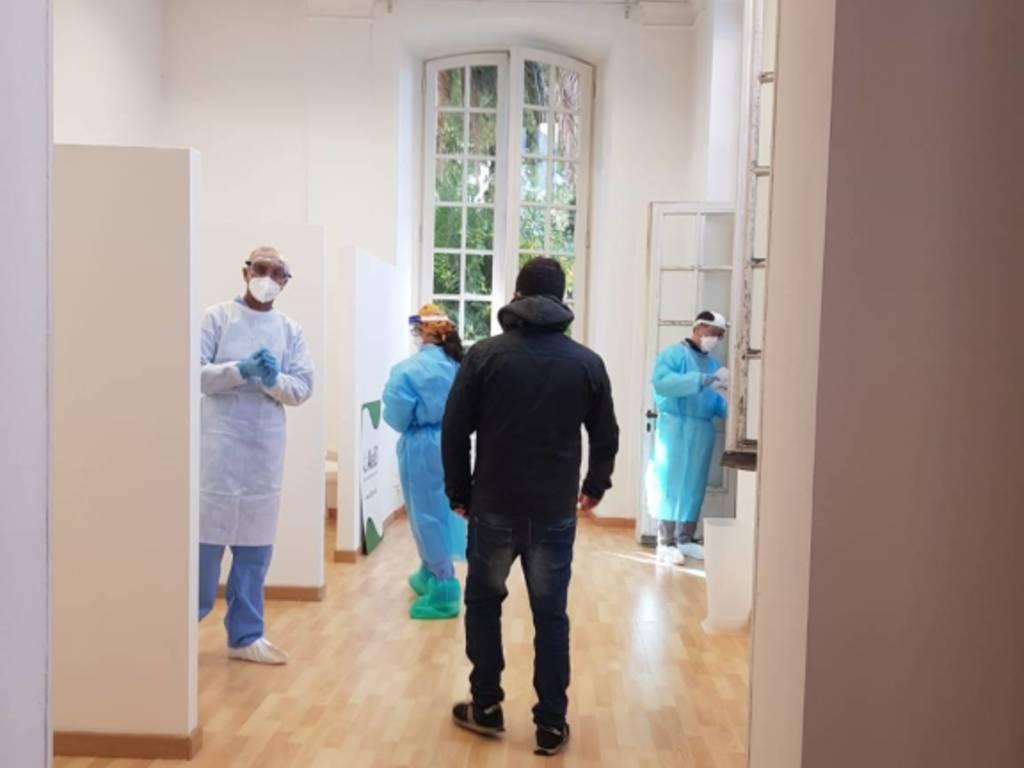 Ambulatorio tamponi a Villa Bombrini