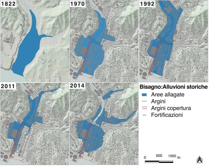 analisi alluvioni bacino Bisagno