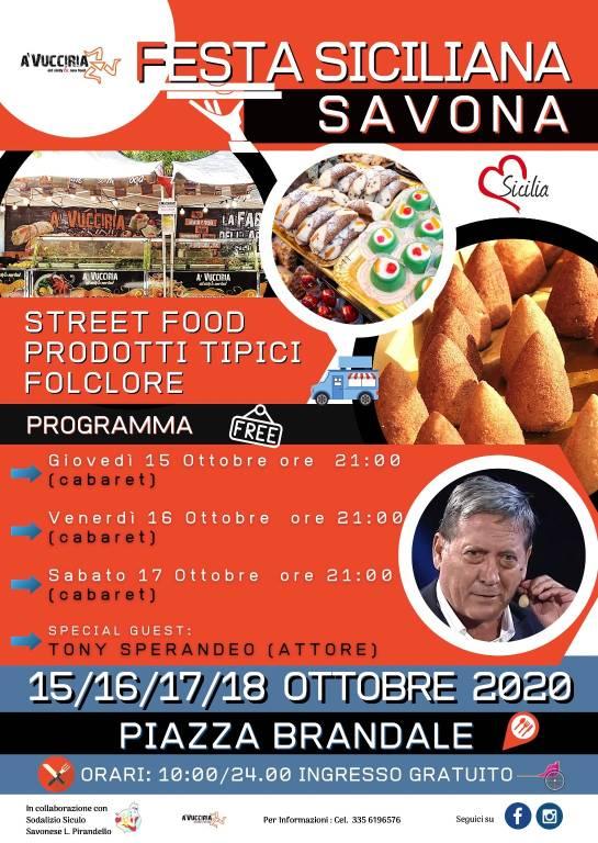 """Savona """"Festa Siciliana"""" ottobre 2020"""