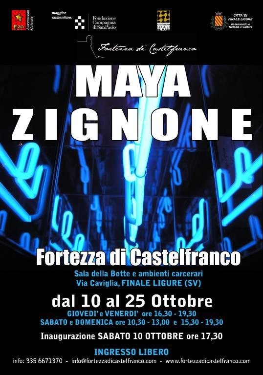 Finale Ligure mostra d'arte Maya Zignone Fortezza Castelfranco