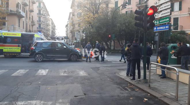 Scontro Auto Moto Savona