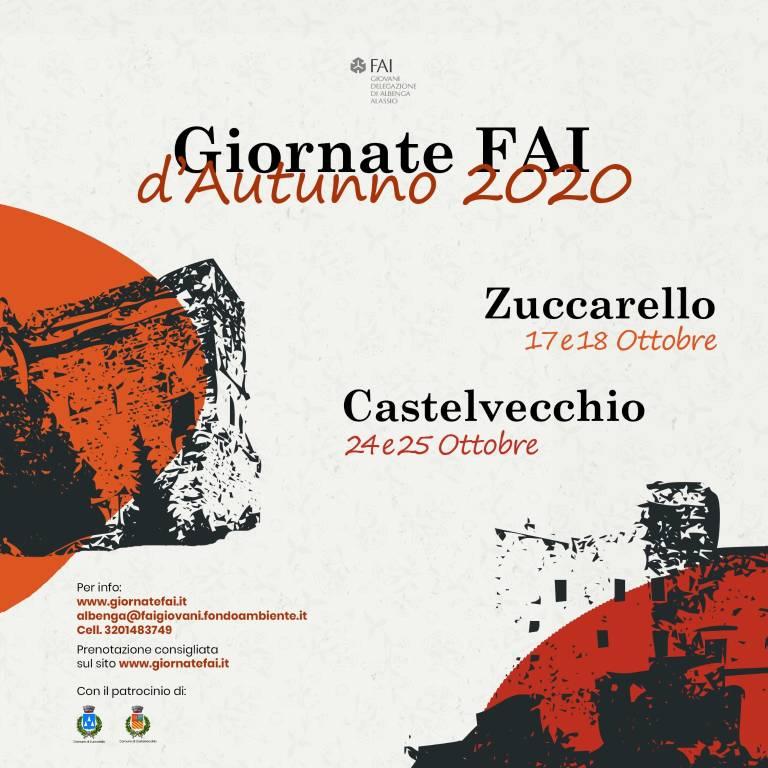 Giornate FAI Autunno 2020 Zuccarello e Castelvecchio Gruppo Giovani
