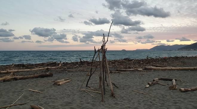 legname in spiaggia