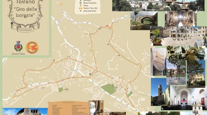 Mappa Borgate Toirano