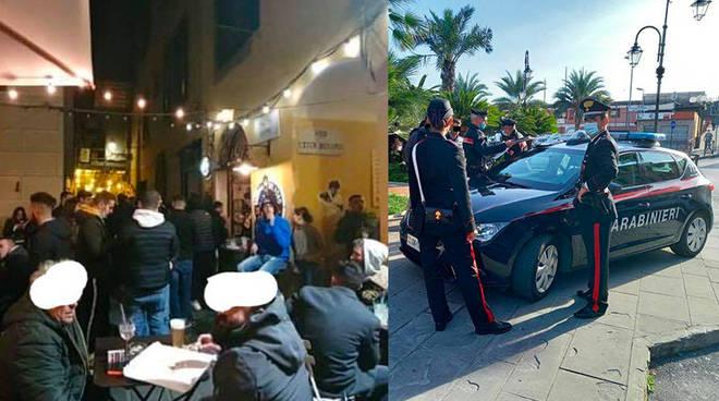 Movida assembramenti multe carabinieri