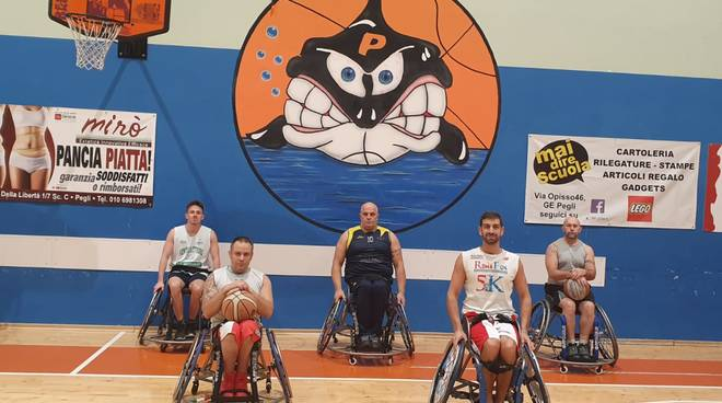 pallacanestro_basket_carrozzina_Pegli_formazione
