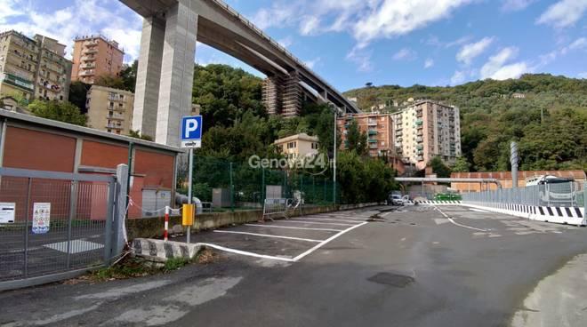 parcheggi viadotto Bisagno