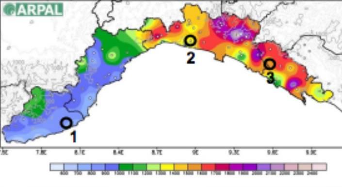 piovosità liguria piogge distribuzione