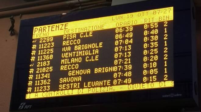 ritardi treni Voltri