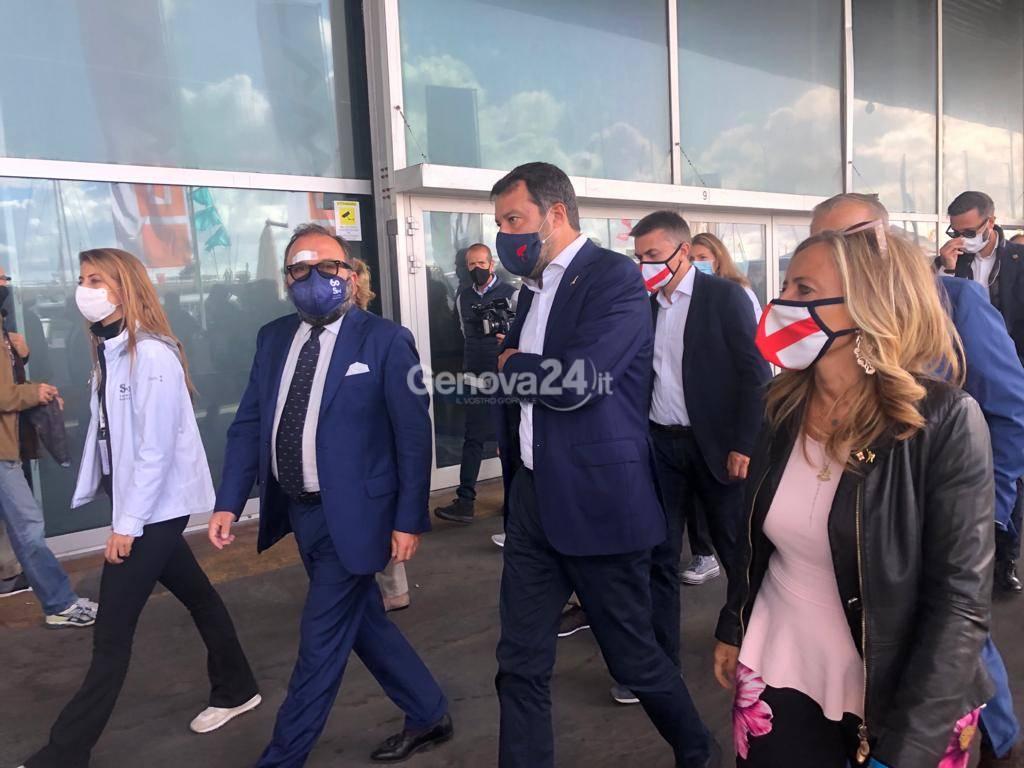 Salvini in visita al Salone Nautico di Genova