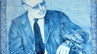 Alassio Muretto piastrella Ernest Hemingway