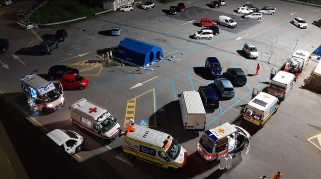 ambulanze notte San Paolo sanificazione