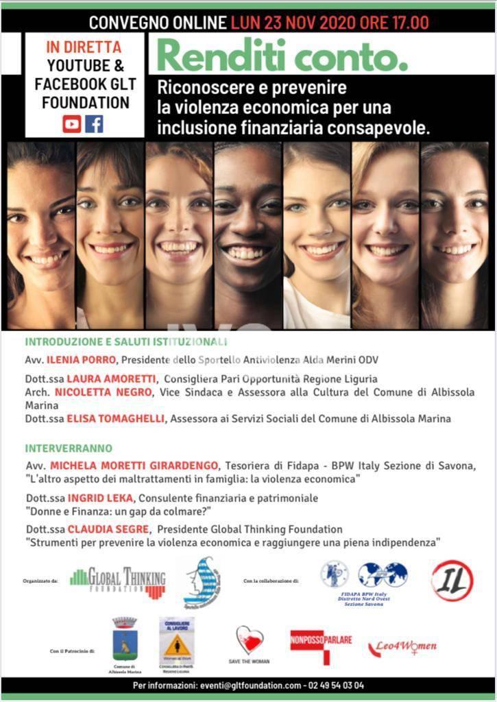 \'Renditi conto - Riconoscere e prevenire la violenza economica per una inclusione finanziaria consapevole\'