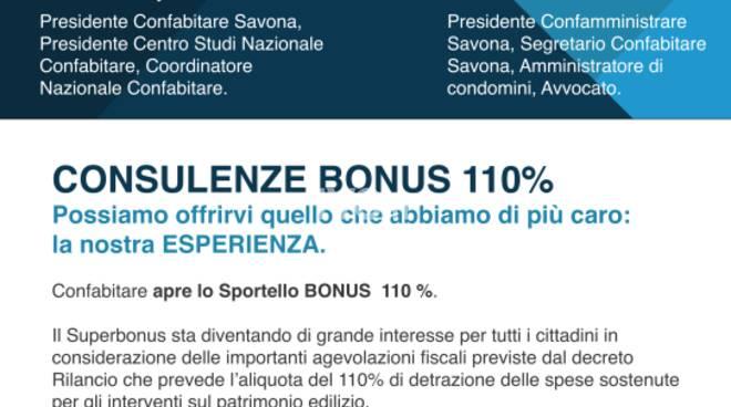 Confabitare Savona apre lo  Sportello BONUS  110 %