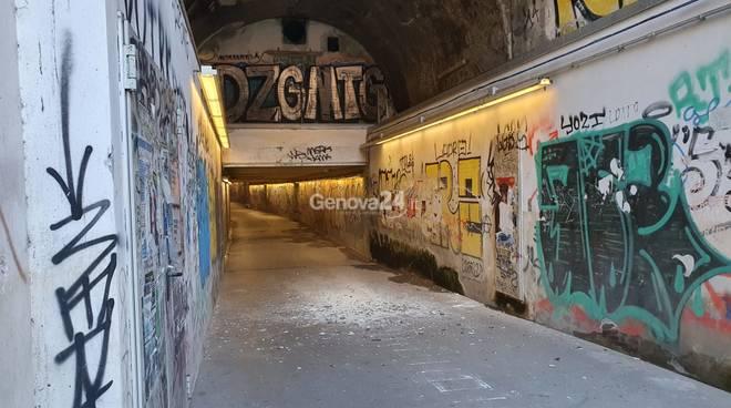 chiuso tunnel borgo incrociati