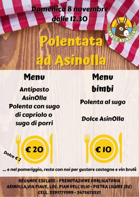 Pietra Ligure Parco AsinOlla Polentata novembre 2020