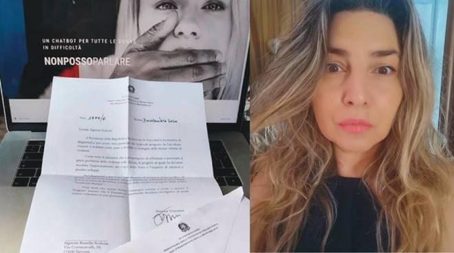 lettera pres repubblica a Rosella Scalone di Save the Woman