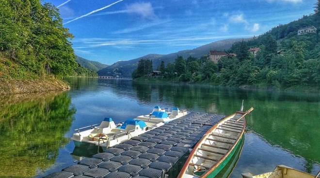 Lago Osiglia imbarcadero