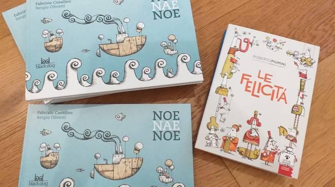 """""""Le felicità"""" e """"Noe Nae Noe"""" libri con illustrazioni di Sergio Olivotti"""